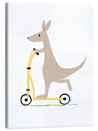Canvas print  Kangaroo with scooter - Sandy Lohß