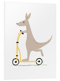 Foam board print  Kangaroo with scooter - Sandy Lohß