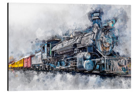 Aluminium print  Steam locomotive Durango and Silverton Narrow Gauge Railroad - Colorado - USA - Peter Roder