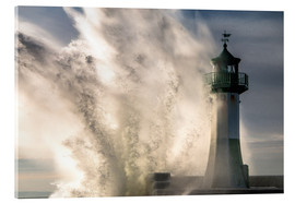 Acrylic print  Winter storm in Sassnitz - Simone Splinter