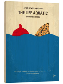 Wood  No774 My The Life Aquatic with Steve Zissou minimal movie poster - chungkong