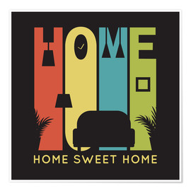 Premium poster  Sweet Retro Home Typo - Typobox