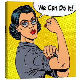 Canvas  We can do it! popart