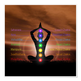 Poster  Chakras in evening sky