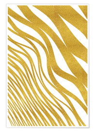 Premium poster Golden Wave