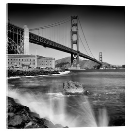 Acrylic print  Golden Gate Bridge with breakers - Melanie Viola