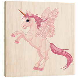 Wood print  My Unicorn - Kidz Collection