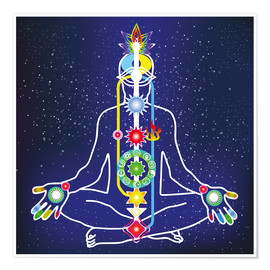 Premium poster  colorful chakras
