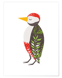 Poster  Little woodpecker - Kidz Collection