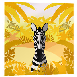 Acrylic print  Habitat of the zebra - Kidz Collection