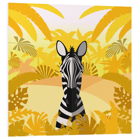 Foam board print  Habitat of the zebra - Kidz Collection