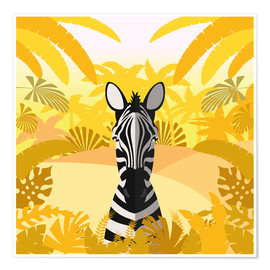 Premium poster  Habitat of the zebra - Kidz Collection
