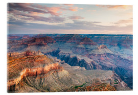 Acrylic print  Sunset over the Grand Canyon south rim, USA - Matteo Colombo