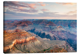 Canvas  Sunset over the Grand Canyon south rim, USA - Matteo Colombo