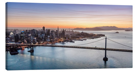 Canvas  Aerial view of San Francisco at sunset, USA - Matteo Colombo