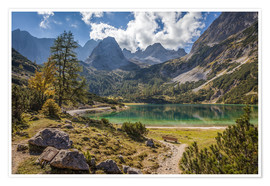 Premium poster  Idyllic mountain lake in the Tyrol mountains (Austria) - Christian Müringer