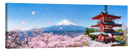 Canvas print  Chureito pagoda with Mount Fuji in the spring, Fujiyoshida, Japan - Jan Christopher Becke