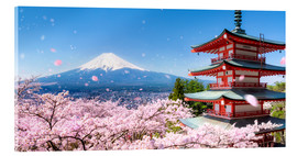 Acrylic print  Chureito pagoda with Mount Fuji in Fujiyoshida, Japan - Jan Christopher Becke
