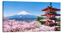 Canvas  Chureito pagoda with Mount Fuji in Fujiyoshida, Japan - Jan Christopher Becke