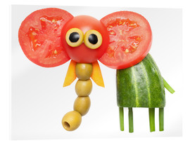 Acrylic glass  Vegetable animals - elephant