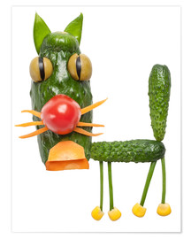 Poster  Vegetable animals - cat