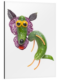 Aluminium print  Vegetable animals - Wolf