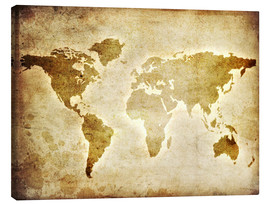 Canvas print  Vintage world map