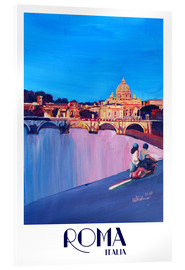 Acrylic print  Retro Vespa in Rome to Vatican City - M. Bleichner