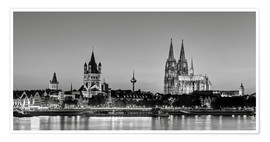 Poster  Magnificent Cologne black and white - Michael Valjak