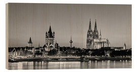 Wood print  Magnificent Cologne black and white - Michael Valjak