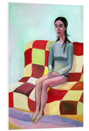 Foam board print  Woman on sofa III - Diego Manuel Rodriguez