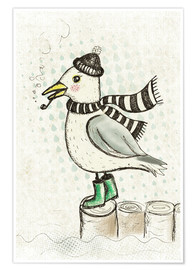 Premium poster  Seagull Otto - Ahoy! - Little Miss Arty