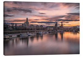 Canvas print  sunset Dresden - Achim Thomae