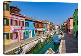 Canvas  Fishing village of Burano - Achim Thomae