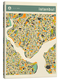 Canvas  Istanbul Map - Jazzberry Blue