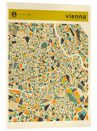 Acrylic print  VIENNA MAP - Jazzberry Blue