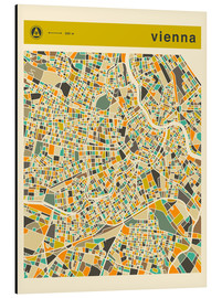 Aluminium print  VIENNA MAP - Jazzberry Blue