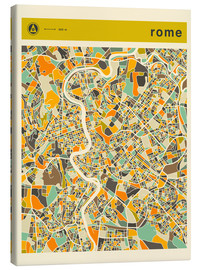 Canvas  ROME MAP - Jazzberry Blue