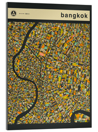 Acrylic print  BANGKOK MAP - Jazzberry Blue