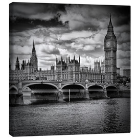 Canvas print  LONDON Houses of Parliament & Westminster Bridge - Melanie Viola