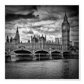 Premium poster  LONDON Houses of Parliament & Westminster Bridge - Melanie Viola