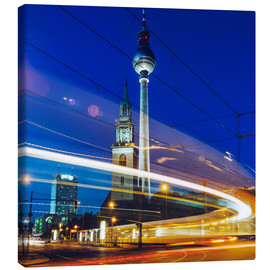 Canvas print  Berlin - TV Tower / Light Trails - Alexander Voss