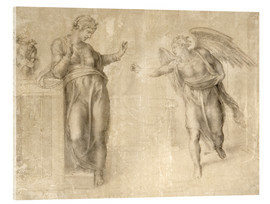 Acrylic print  The Annunciation to Mary - Michelangelo