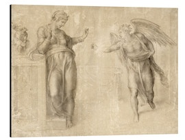 Aluminium print  The Annunciation to Mary - Michelangelo