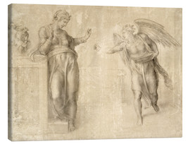 Canvas print  The Annunciation to Mary - Michelangelo