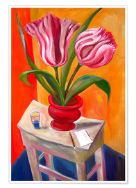 Premium poster Great tulips