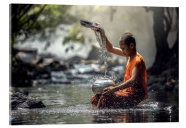 Acrylic print  Monk at the Water