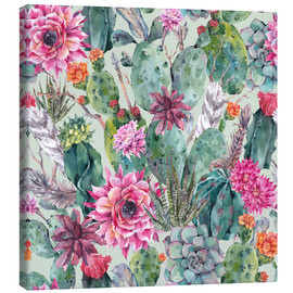 Canvas print  Cacti in water color