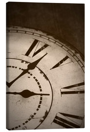 Canvas print  picture of an old vintage clock