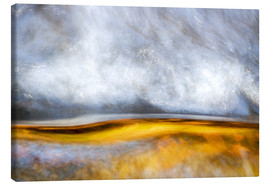 Canvas  Abstract Silver and Gold - Sander Grefte